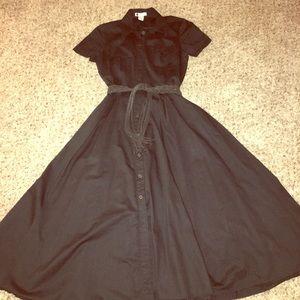 Carol little size 6 black  belt dress